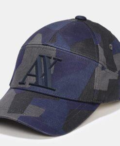 Boné AX Geo Camo 5-Panel Hat Azul