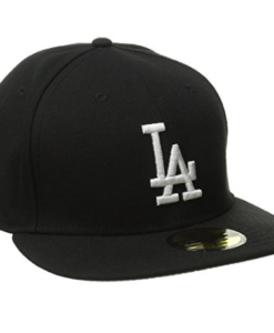 MLB Los Angeles Dodgers Black with White 59FIFTY Fitted Cap