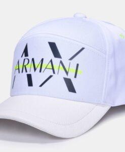 Boné Armani Exchange Neon Strikethrough Hat White