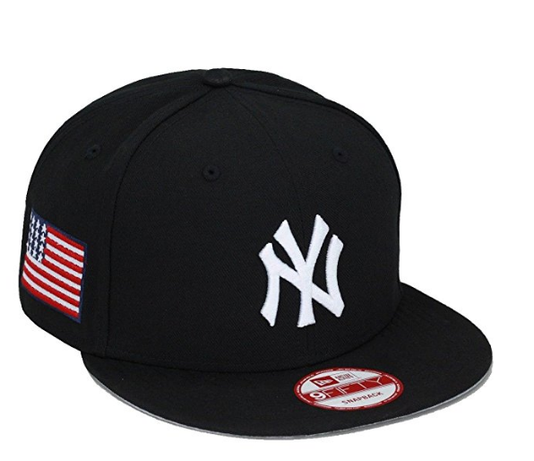 New Era New York Yankees Snapback Hat Cap Black USA Flag MLB olympic f74508add0c