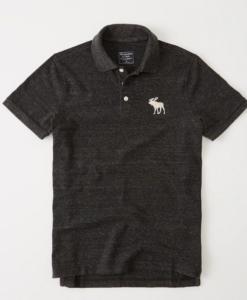 Polo Abercrombie & Fitch Big Icon Black