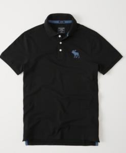 Polo Abercrombie & Fitch Big Icon Stretch Black