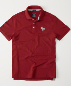 Polo Abercrombie & Fitch Big Icon Stretch Red