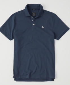 Polo Abercrombie & Fitch Stretch Icon Blue