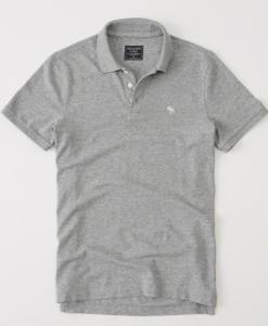 Polo Abercrombie & Fitch Stretch Icon Grey