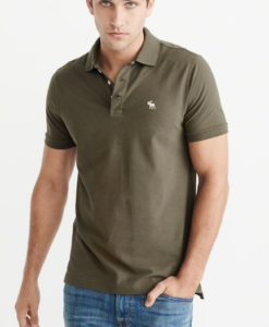 Polo Abercrombie & Fitch Stretch Icon Olive