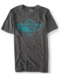 Aeropostale Men's New York City Block Image Graphic T Shirt