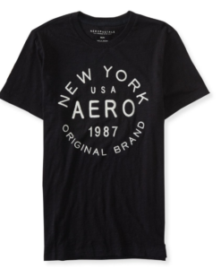 Aeropostale Men's Ny Aero Original Brand Logo Graphic T Shirt