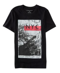 Aeropostale Men's Nyc East Village Graphic T Shirt Black