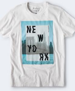 FREE STATE WAVY NEW YORK GRAPHIC TEE