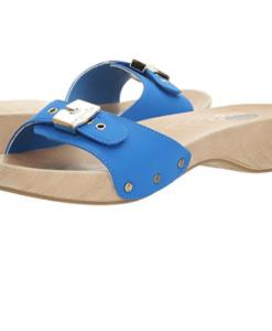 Dr. Scholl's Women's Classic Platform Slide Sandal Blue