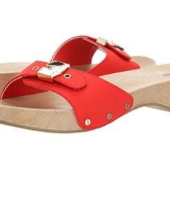 Dr. Scholl's Women's Classic Platform Slide Sandal Red