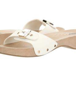 Dr. Scholl's Women's Classic Platform Slide Sandal White
