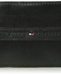 Tommy Hilfiger Men's RFID Blocking 100% Leather Passcase Bifold Wallet