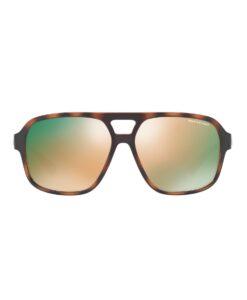 Oculos Tortoise Colorblock Aviator Sunglasses