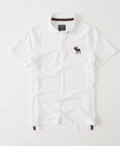 Big Icon Stretch Polo White
