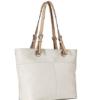 Michael Kors Women's Bedford Top Zip Pocket Tote Bag branca