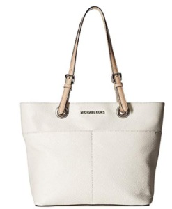 Michael Kors Women's Bedford Top Zip Pocket Tote Bag branca 3