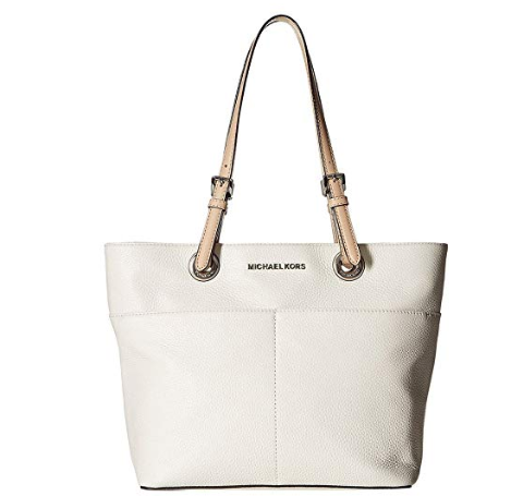 Michael Kors Women's Bedford Top Zip Pocket Tote Bag branca 3