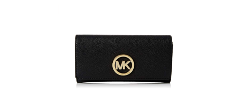 Michael Kors Women's Fulton Carryall Leather Wallet black