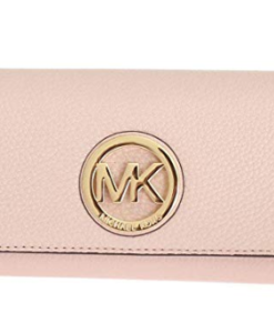 Michael Kors Women's Fulton Carryall Leather Wallet rosa