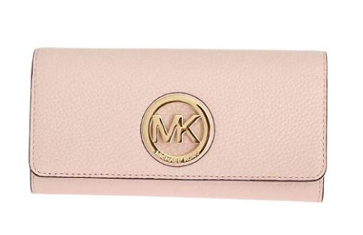 Michael Kors Women's Fulton Carryall Leather Wallet rosa