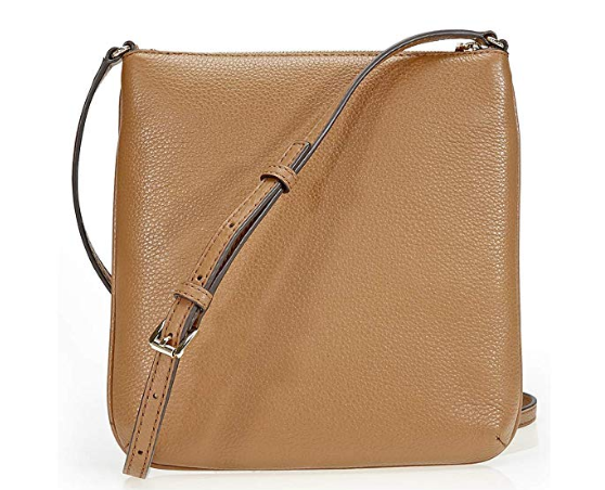 37c9ad84d5f NEW AUTHENTIC MICHAEL KORS SMALL RILEY LEATHER CROSSBODY beje 3