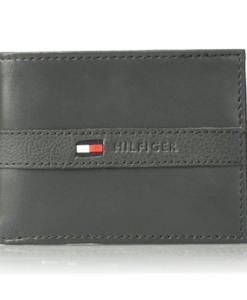 af7edea11 Tommy Hilfiger Men's Ranger Leather Passcase Wallet cinza 2. Visualiza  Rápida