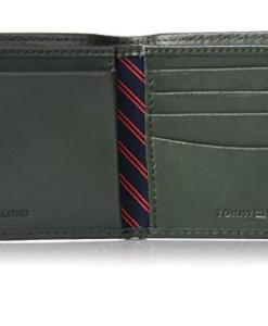 Tommy Hilfiger Men's Ranger Leather Passcase Wallet verde 3