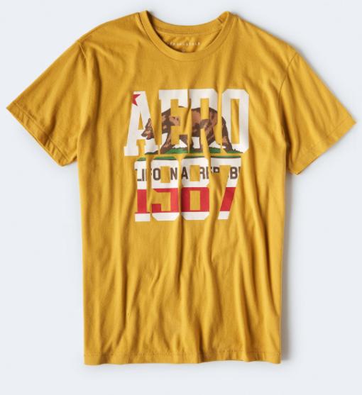 AERO BEAR 1987 GRAPHIC TEE yellow