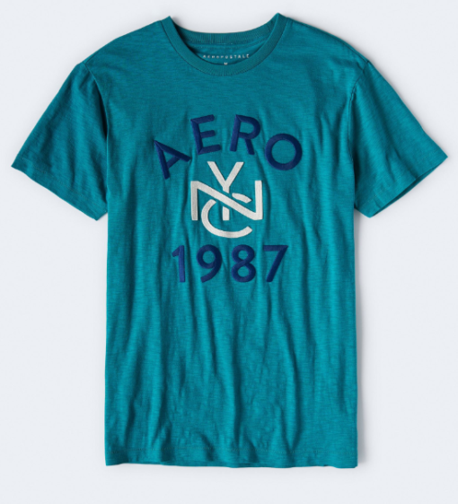 AERO NYC 1987 GRAPHIC TEE blue