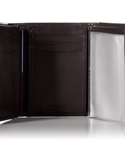 Tommy Hilfiger Men's Leather Cambridge Trifold Wallet 3