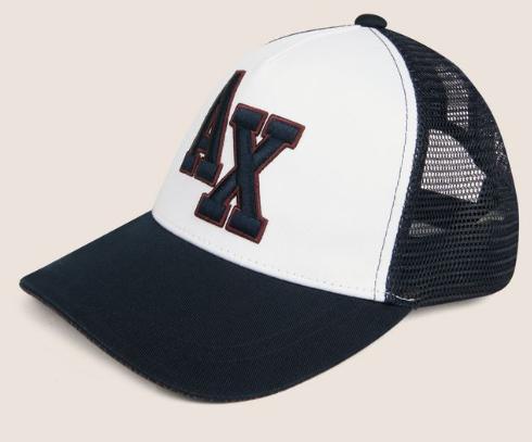 3f26e989f Boné Armani Exchange Varsity Logo Mesh Hat White - EuEnvio ...