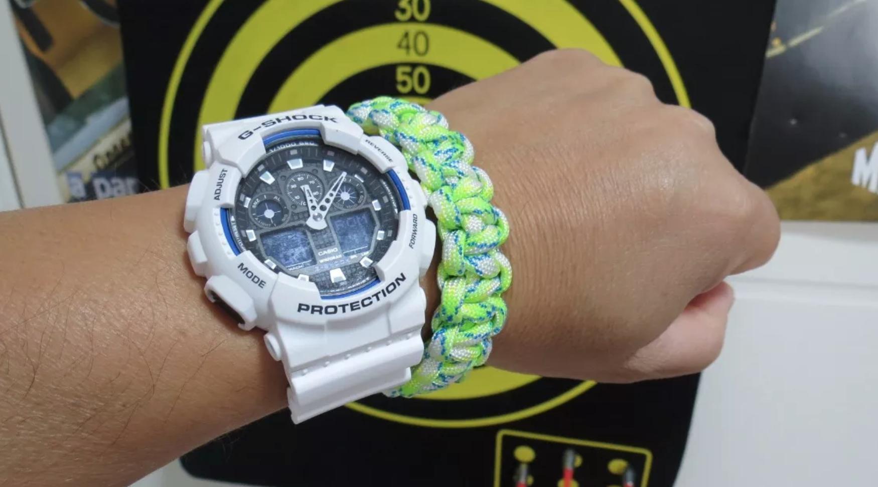 e66c805db60 Relógio Casio G-Shock Branco GA100B-7A - EuEnvio Importados ...